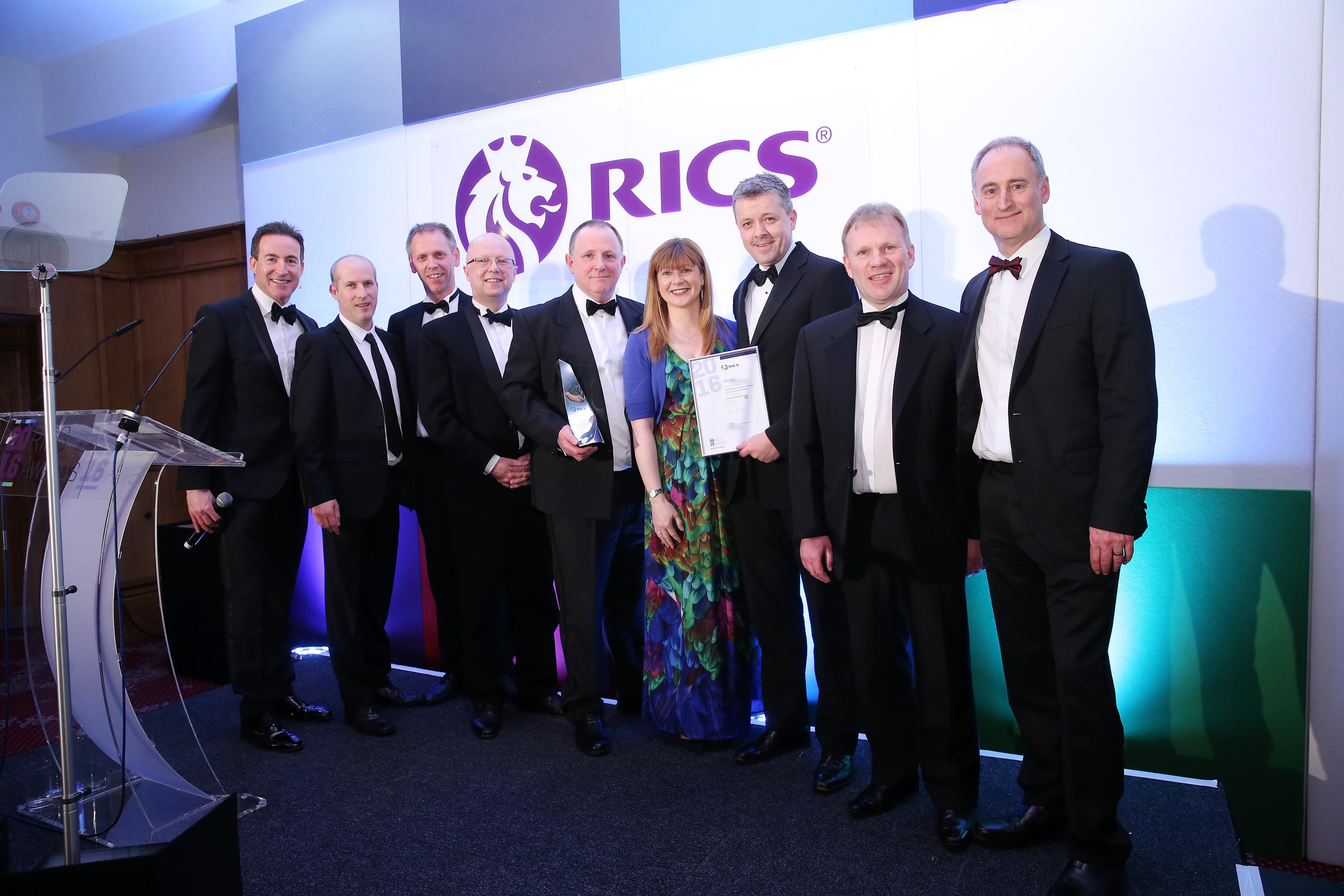 From Left to Right: Barry Kane, Andrew McKeown, Connor Kilgallen, John Nugent, Fiona Grant, Colm Lavery, Robert Hall (Harvey Group) & Ken Geary